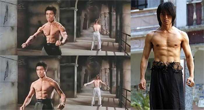 Trong các phim Tinh võ môn, Long tranh hổ đấu và Mãnh long quá giang, Lý Tiểu Long đều có cảnh cởi trần. Để noi gương thần tượng, Châu Tinh Trì đã chăm chỉ tập luyện và tự tin xuất hiện trên màn ảnh phim Tuyệt đỉnh kungfu, khoe cơ thể săn chắc.
