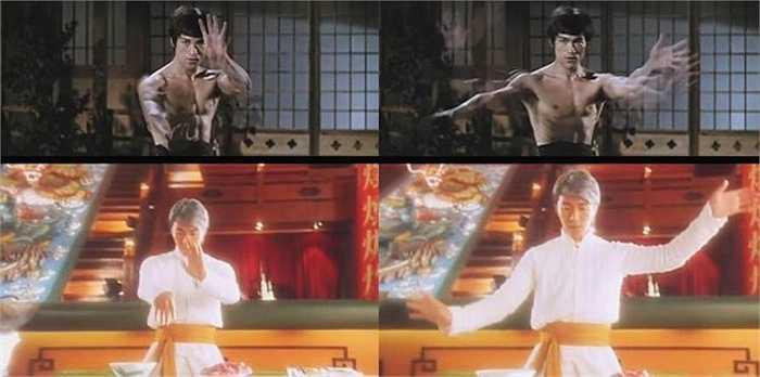 Châu Tinh Trì đã đưa vào bộ phim Thực thần động tác múa tay mềm mại của Thái cực quyền mà Lý Tiểu Long đã sử dụng trong phim Tinh võ môn.