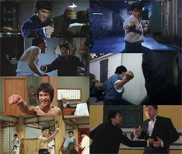 Châu Tinh Trì rất thích động tác võ thuật một đấm hạ đối thủ của Lý Tiểu Long trong các phim Tinh võ môn, Đường Sơn đại huynh.