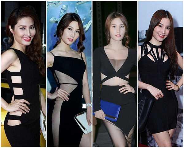 Váy đen góp phần giúp Diễm My 9X lột xác phong cách của mình. Cô thường chọn những bộ váy cut out gợi cảm.