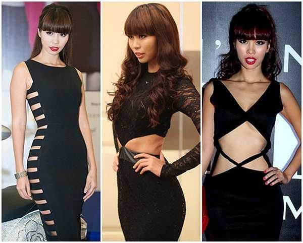 Hà Anh đi đầu trong trào lưu cách tân cho những bộ đầm 'Little Black Dress' tại Việt Nam.