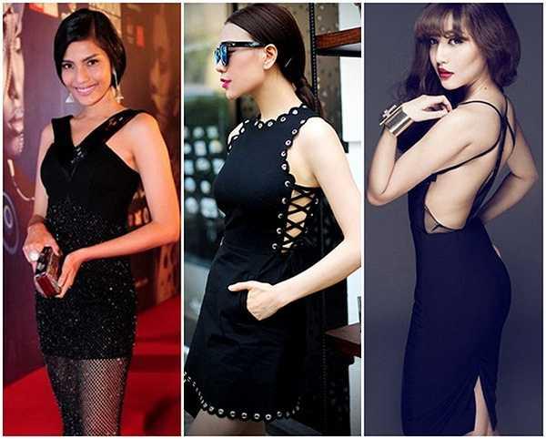 Những đường cut out giúp váy đen trở nên thú vị hơn rất nhiều.