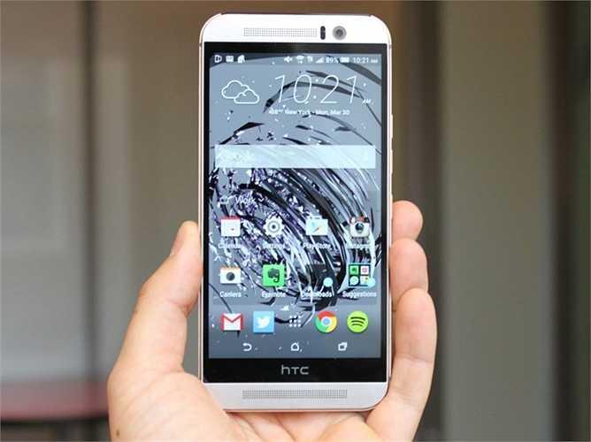 6.  HTC One M9. Đây được coi là sản phẩm tạo thương hiệu mới nhất đến từ HTC. Nó có thiết kế khá tương đồng với One M8 nhưng có phần tinh tế hơn, chip xử lý nhanh nhạy hơn và có khả năng sẽ trở thành điện thoại tốt nhất thế giới trong thời gian tới. Giá của One M9 là 630 USD