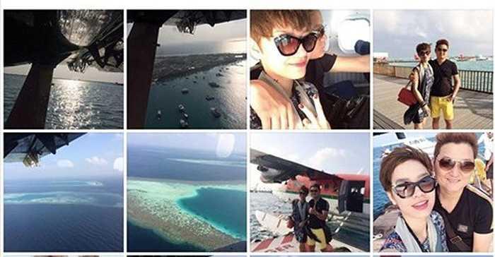 Nữ ca sỹ hạnh phúc chia sẻ hình ảnh về chuyến du lịch trên trang cá nhân