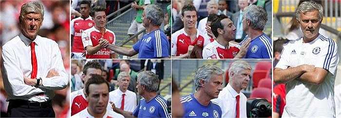 Mối quan hệ giữa Mourinho và Wenger đã căng thẳng tới mức đỉnh điểm. Họ không thèm nhìn mặt nhau