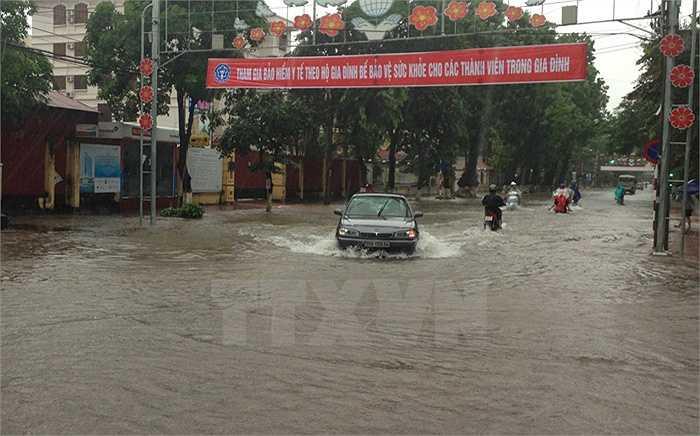 Tình trạng ngập lụt đang diễn ra tại nhiều tỉnh miền Bắc
