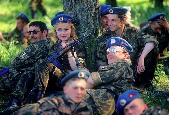 Các binh sỹ thuộc đơn vị dù Pskov