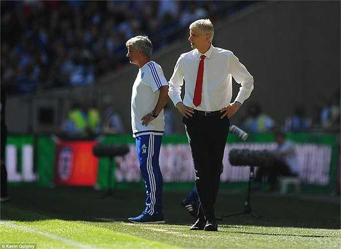 Mourinho và Wenger lảng tránh nhau suốt cả trận