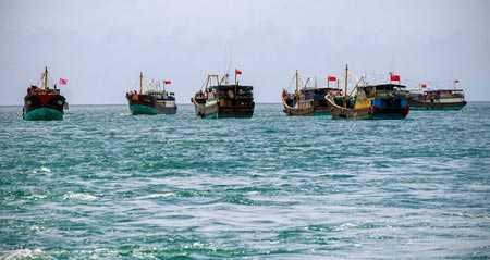 Tàu cá Trung Quốc hoạt động ở khu vực Biển Đông