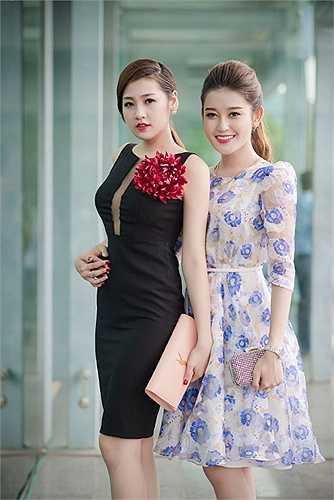 Hai Á hậu Tú Anh, Huyền My đọ sắc khi cùng xuất hiện trong một sự kiện. Mỗi người một vẻ, một chín, một mười.