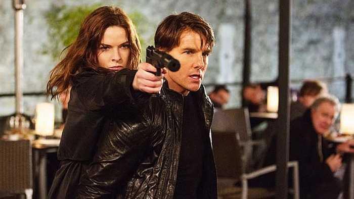 Trong phần mới nhất của Nhiệm vụ bất khả thi, Rebecca vào vai một nữ gián điệp 2 mang.  (Nguồn: 24h )