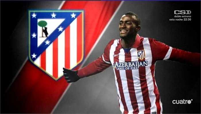 Trên hàng công là Jackson Martinez, cầu thủ vừa cập bến Atletico với giá 24,5 triệu bảng