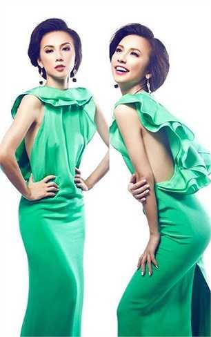 Huyền Ny được mệnh danh là 'yêu nữ hàng hiệu' mới của Vbiz. Chiếc váy Gucci này của cô được rất nhiều ngôi sao trên thế giới yêu thích.