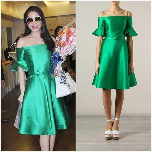 Chiếc váy trễ vai gợi cảm của Trương Ngọc Ánh đến từ thương hiệu Carven trị giá 30 triệu đồng