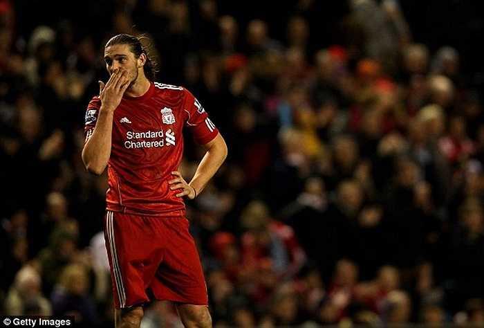 Khấm khá hơn chút đỉnh là Andy Carroll. Dù từng ngốn của Liverpool 35 triệu bảng nhưng anh vẫn được West Ham mua lại với giá 15,5 triệu. Chung quy, chân sút sinh năm 1986 chỉ khiến The Kop bị lỗ 19,5 triệu