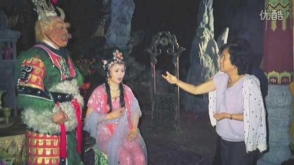 Đạo diễn Dương Khiết với Ngưu Ma Vương (Vương Phu Đường) và Thiết phiến công chúa (Vương Phụng Hà).