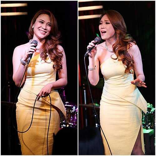 Nữ ca sĩ tiến bộ vượt bậc trong việc lựa chọn những bộ đầm thanh lịch, tinh tế.
