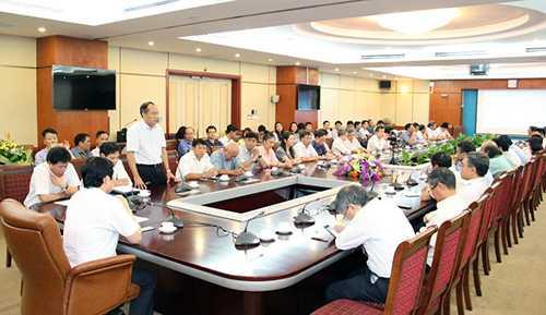 Chủ tịch HĐTV Tổng Công ty VTC Lưu Vũ Hải phát biểu tại buổi Lễ