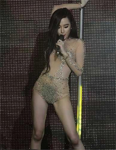 Cô từng nhiều lần mang khả năng này lên sân khấu ca nhạc.