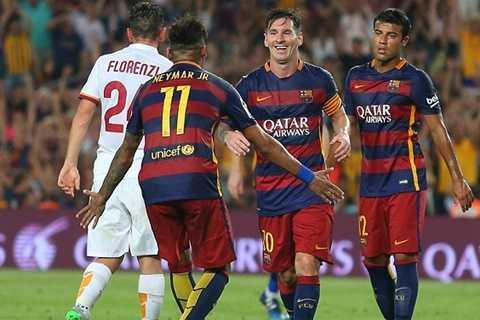 Messi nổ súng chỉ đúng 7 phút sau pha bóp cổ Mbiwa