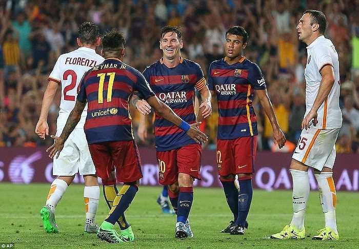Messi ghi bàn thứ 2 cho Barca ở phút 41