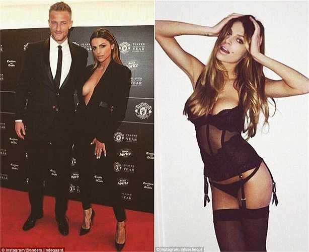 Bất chấp Anders Lindergaard vẫn đang mịt mờ tương lai tại Old Trafford, người mẫu Misse Beqiri vẫn nằm trong số những WAGs nóng bỏng nhất nước Anh