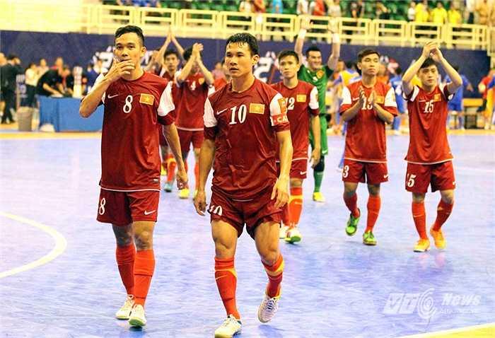 Đội tuyển futsal Việt Nam tại giải châu Á 2014 được tổ chức ở TP.HCM đã chơi đầy ấn tượng. (Ảnh: Quang Minh)
