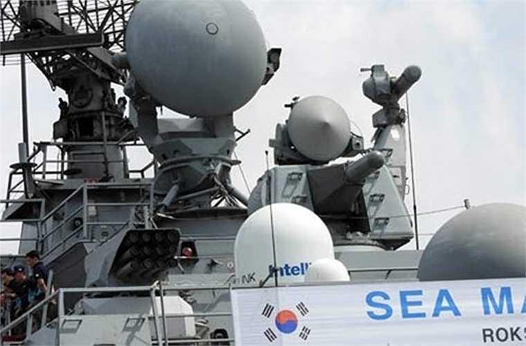 Bên cạnh RAM, lớp tàu này còn có một hệ thống phòng thủ điểm Goalkeeper (Hà Lan phát triển) được trang bị pháo cao tốc 7 nòng cỡ 30mm cho tốc độ bắn 4.200 phát/phút, tầm bắn hiệu quả 350-1.500 hoặc 2.000m tùy loại đạn. Loại vũ khí này rất hữu hiệu khi chống mục tiêu cơ động cao như tên lửa hành trình, UAV.
