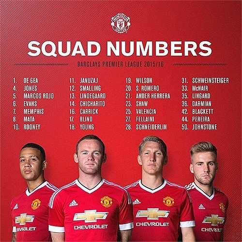 Trong danh sách đăng ký số áo mùa giải mới của Man Utd, tân binh Memphis Depay được đăng ký số áo 7 huyền thoại