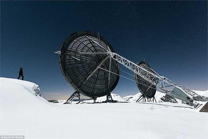 Một trạm radar bị bỏ hoang trên dãy Alpes ở Italia