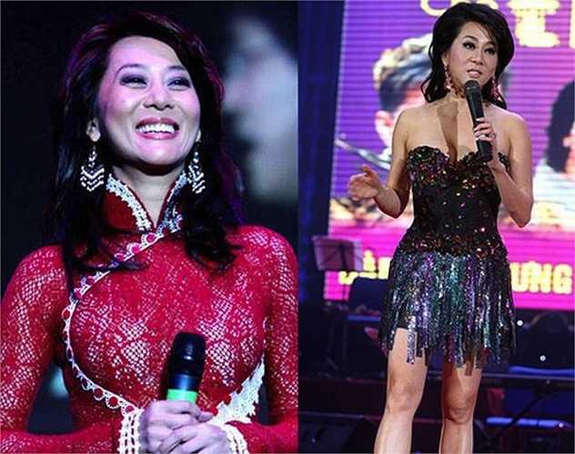 Bất chấp tuổi tác, MC Nguyễn Cao Kỳ Duyên vẫn luôn giữ được phong cách sexy nóng bỏng trên mỗi sân khấu mà cô cầm mic.