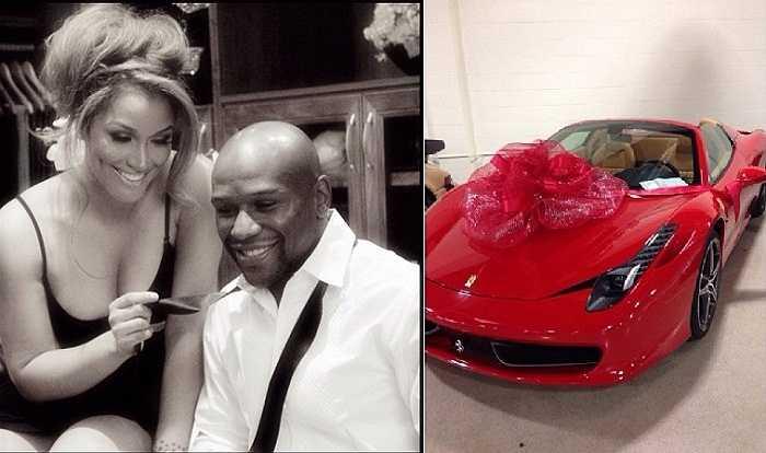 Tháng 12 năm 2013, Mayweather tặng vợ mình Shantel Jackson siêu xe Ferrari 458 Spyders với giá chỉ... 260 nghìn Đô-la.