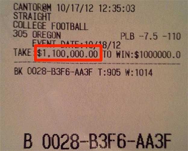 'Tiền cao như núi' nên Mayweather không ngại cá cược mỗi lần cả triệu đô như thế này.