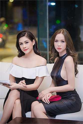 Người đẹp Lô Hương Trâm đọ sắc bên Vũ Ngọc Anh.
