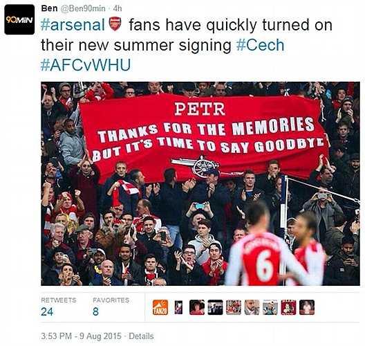 Cech vừa tới mà fan Arsenal đã sẵn sàng nói lời giã biệt