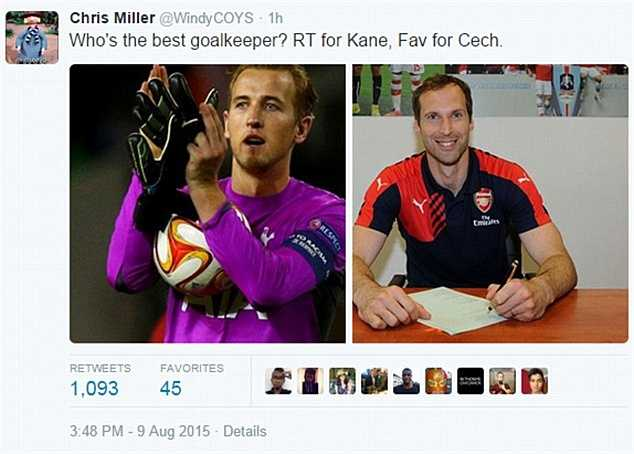 Harry Kane là thủ môn còn hay hơn Cech