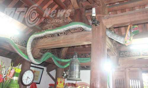 Hình nộm rắn ở chánh điện
