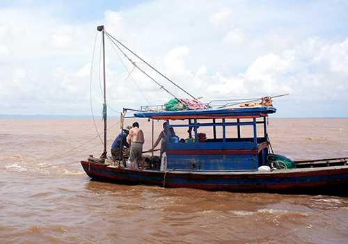 Ngư dân khai thác don, dắt trên vùng biển Hải Phòng