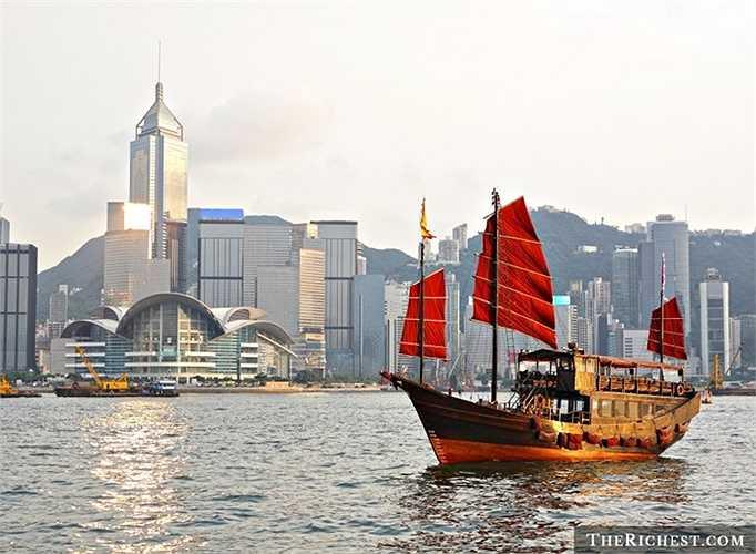 Hong Kong/ GDP bình quân đầu người: 53.432 USD. Trung Quốc sở hữu tài sản quốc dân lớn hơn so với Hong Kong nhưng khi so sánh về chỉ số bình quân đầu người, họ còn thua kém so với 'đặc khu' của mình
