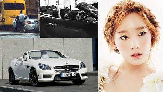 Taeyeon - Girls' Generation: Mercedes Benz SLK 55 AMG (44.000-71.000 USD)