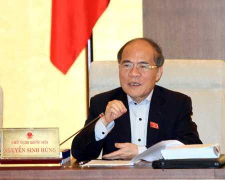 Chủ tịch Quốc hội Nguyễn Sinh Hùng (Ảnh: TTXVN)