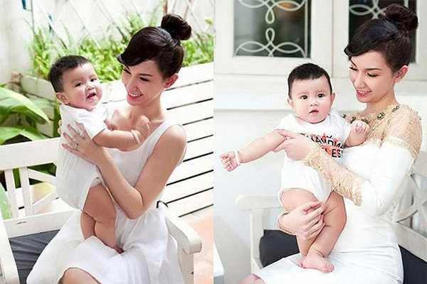 Quỳnh Chi và con trai