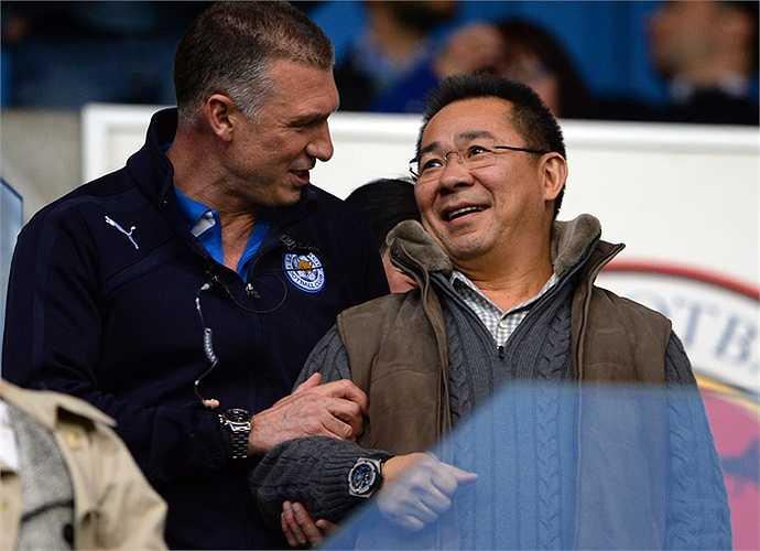 Doanh nhân người Thái Lan Vichai Srivaddhanaprabha - Chủ tịch của Leicester City - xếp thứ 9 với tổng tài sản 1,4 tỷ bảng.