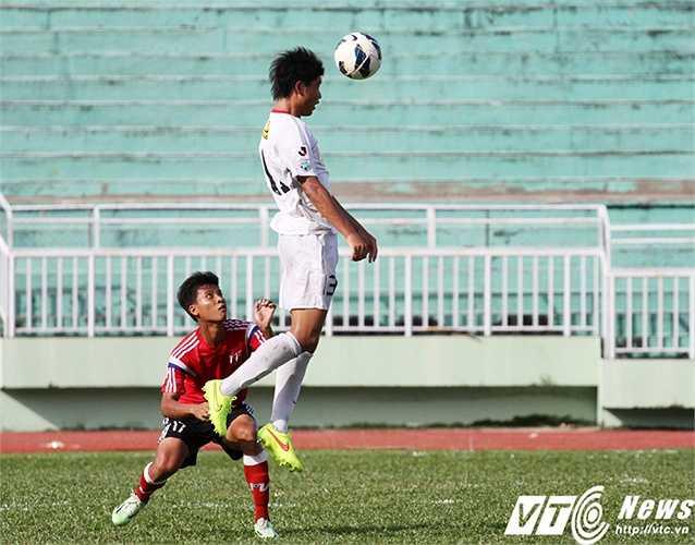 Một trong những 'cây sào' nguy hiểm nhất bên phía đội bóng Nhật - Yuki Kaita (Ảnh: Hoàng Tùng)