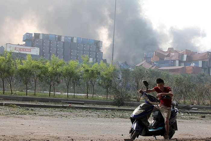 Thiên Tân bị bao phủ trong một làn khói đen dày đặc