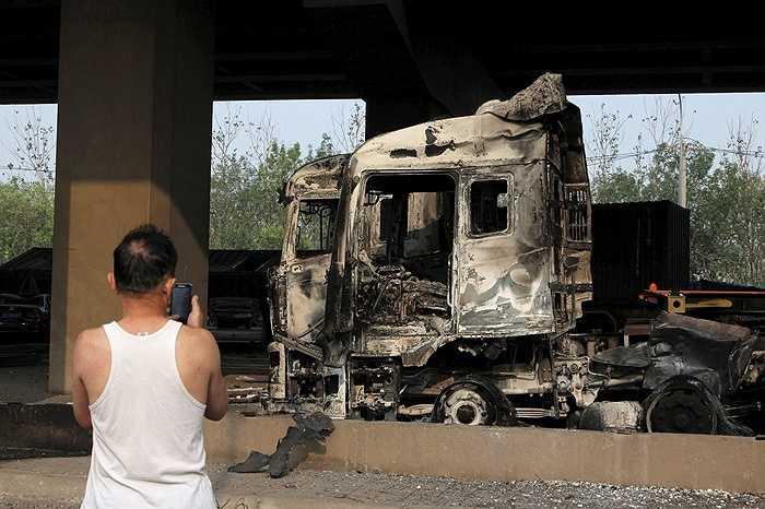 'Xác' của một chiếc xe tải