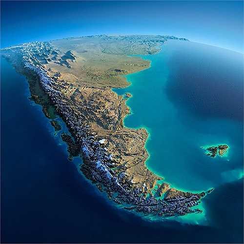 Khu vực Nam Mỹ như hình quả ớt