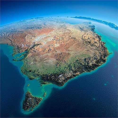 Một phần của Australia hiện lên rõ nét
