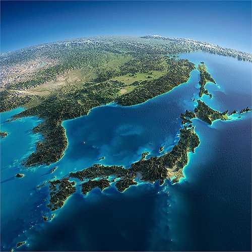 Khu vực Đông Bắc Á có bán đảo Triều Tiên và Nhật Bản