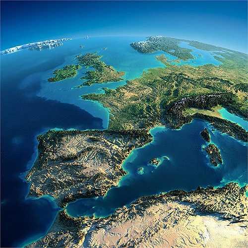 Khu vực Tây Âu với Tây Ban Nha và nhiều nước vùng Địa Trung Hải